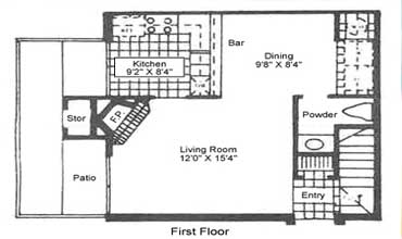 hidden bend townhomes floorplans